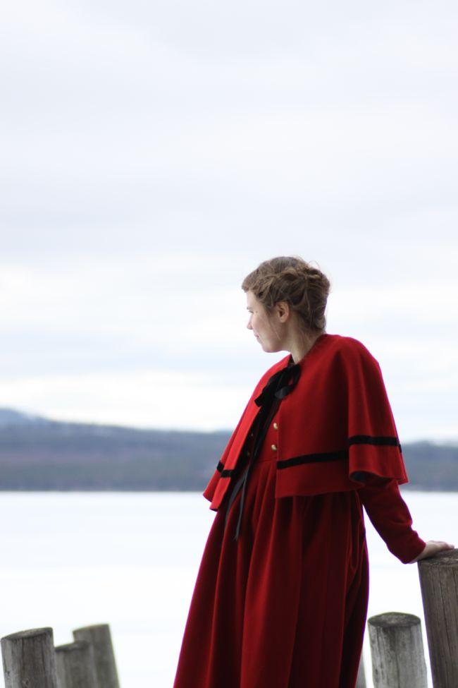 Ylleklänning sydd av Malin Bohm www.malinbohm.se/blogg foto Lina Nääs